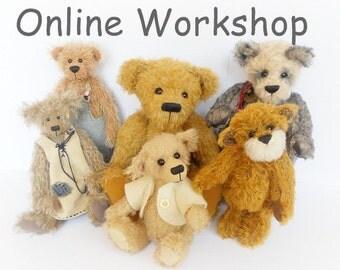 Teddy Bear Making Tutorial - Online Workshop