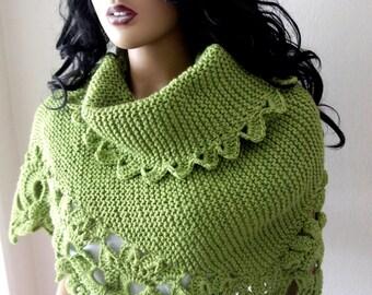 Green  Triangle Shawl