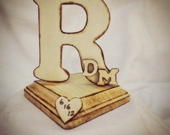 Rustic Wood Cake Topper