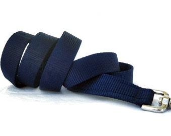 Navy Blue Nylon Dog Leash