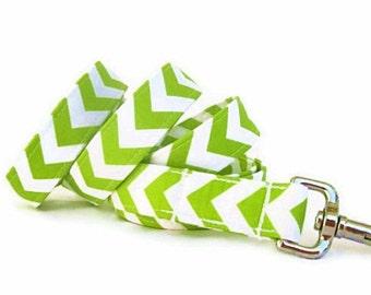 Chevron Dog Leash - Lime Green Chevron - 6 Foot Leash