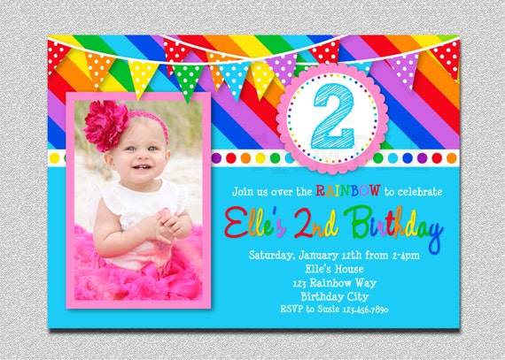 40th Birthday Ideas Rainbow Invitations Templates Free