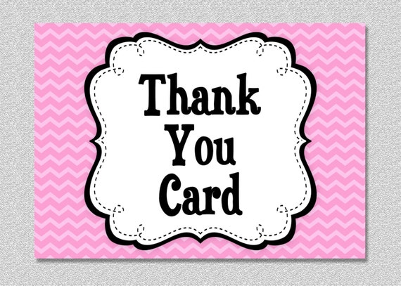 Matching Printable Thank You Card