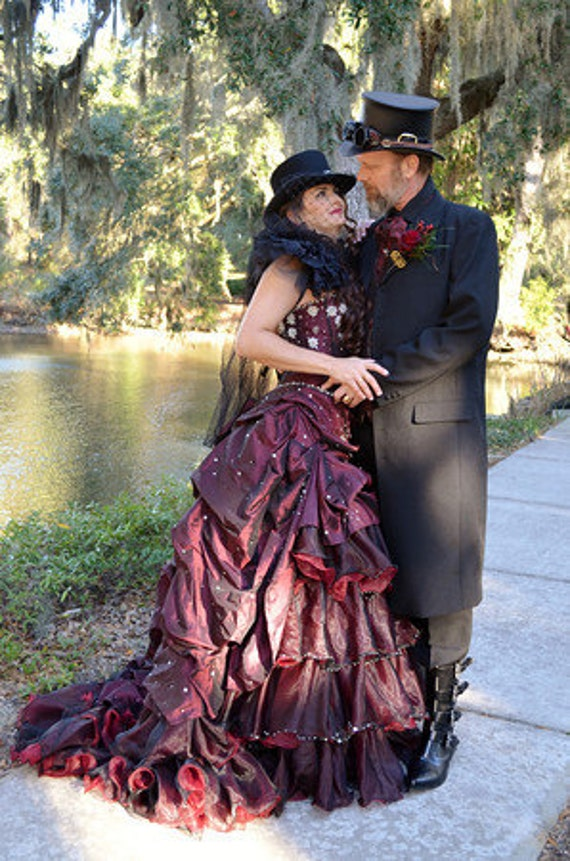 Steampunk Bridal Gown Custom Made to Order