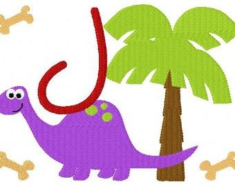 Dinosaur // 5x7 //  Machine Embroidery Monogram Design Set, Machine Embroidery Designs, Embroidery Font // Joyful Stitches