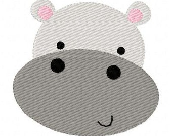 Lil Hippo Zoo Animal Machine Embroidery Design // Joyful Stitches