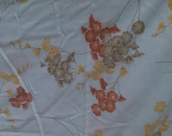 Full Sheet Set / Beautiful vintage brown and orange floral sheet set / Vintage Linens / Vintage Sheets / Full Sheets