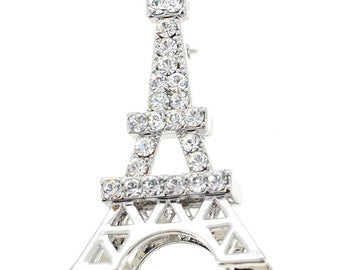 Silver Paris Eiffel Tower Brooch/Pendant  1000881