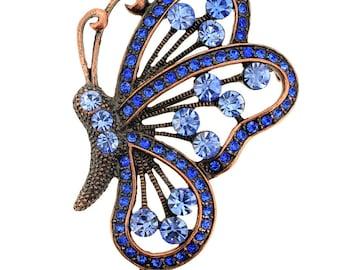 Vintage Sapphire Butterfly Pin Brooch/Pendant 1002113
