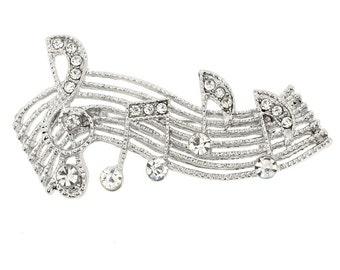 Silver Sheet Music Note Pin 1000181
