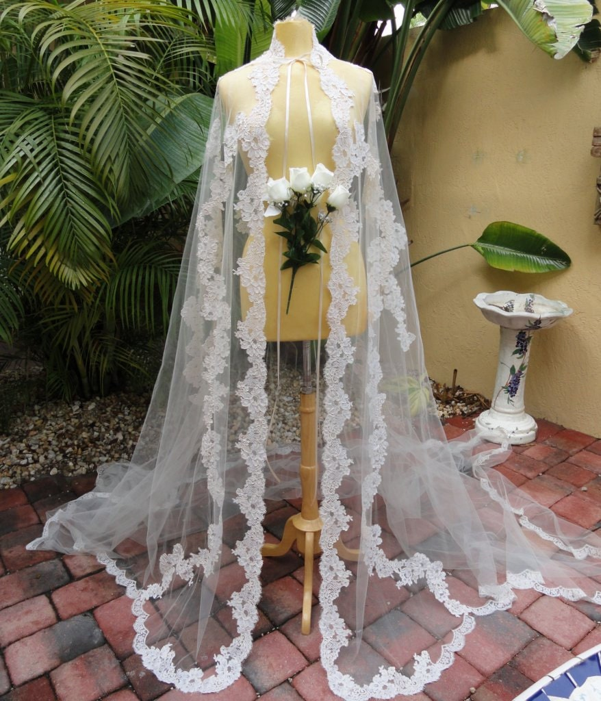 Wedding Cape: Vintage Lace Wedding Cape Redesigned By Vastly