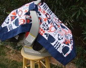 Baby Car Seat Cover - Baby Car Seat Canopy - Nautical Car Seat Canopy - Navy Car Seat Cover - Chevron Car Seat Canopy - Minky Car Seat Cover