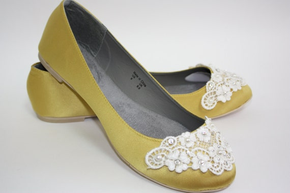 Yellow Wedding  Flats