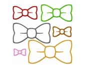 """Bow Tie Machine Embroidery Design Applique Pattern in 6 sizes 2"""", 3"""", 4"""", 5"""", 6"""" and 7"""""""