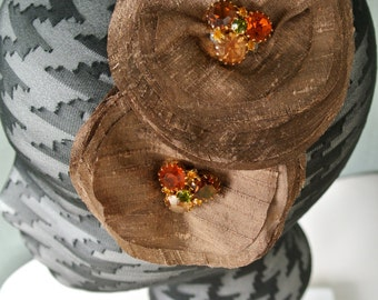 The FRANKIE - brown headpiece, brown fascinator, brown hair piece
