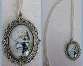 Alice in Wonderland Flamingo Inspired Cameo Necklace