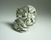 Alvin Floral Sterling Silver Spoon Ring