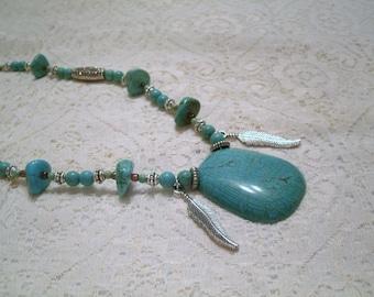 Eagle Spirit Necklace, southwestern jewelry southwest jewelry turquoise jewelry native american jewelry theme western jewelry cowgirl rodeo