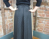 1970s Maxi Skirt/ Quilted Gold Lame Skirt/ NEW OLD STOCK Skirt/ 738