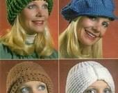 Vintage Crochet Pattern 155 PDF Vintage Crochet Hats from WonkyZebra