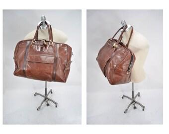 vintage leather bag carry on bag weekender tote vintage leather bag duffle duffel bag