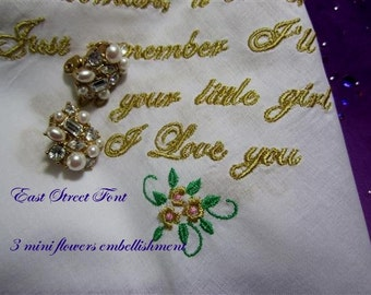 Bridal Handkerchiefs, Keepsakes, Monogrammed, Gift Envelop, a classic hankie for all seasons