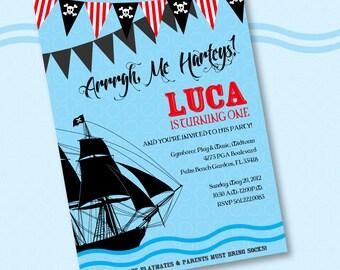 Pirate Invasion Custom Printable Party Invitation
