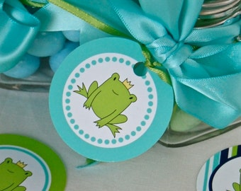 Frog Prince Party Circles DIY Printables INSTANT DOWNLOAD
