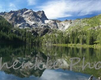 Photography  Mountain  Lake Fine Art Panoramic Print Sardine Lake CA Instant Digital Download