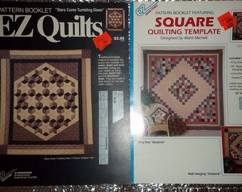 Quilt patterns SQUARE quilting ILLUSIONS Stars Come Tumbling Down patterns quilt making sewing pattern quilt booklets instructions sew quilt
