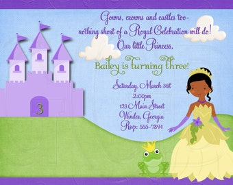 Princess and the Frog Invitation-Digital File