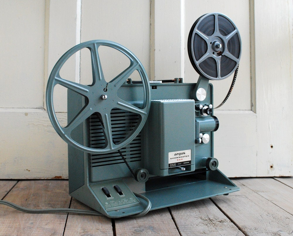 projector 8mm film argus showmaster 1960 movie 1960s
