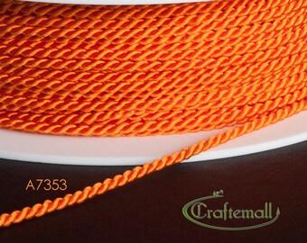 Soutache cord - twisted soutache cord 1.5mm - orange (A7353) - 2 meters