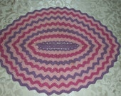 VIntage 60s 70s Crochet Rug Throw Blanket