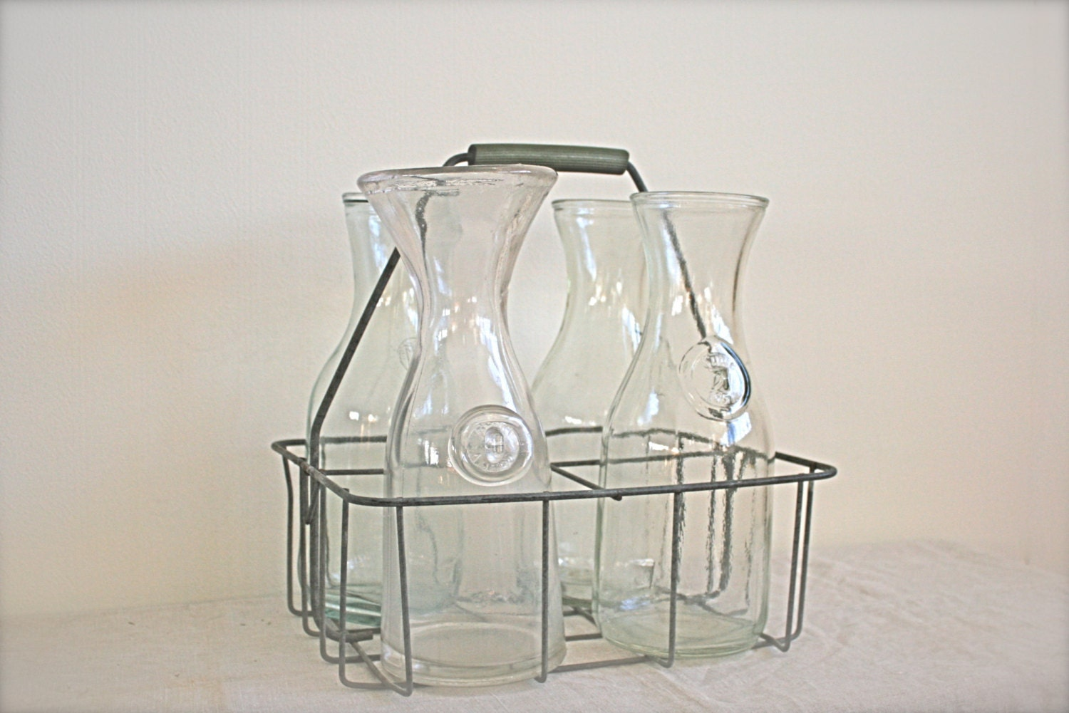antique milk bottles and carrier by thevintagewife on etsy. Black Bedroom Furniture Sets. Home Design Ideas