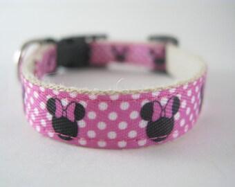 Hemp dog collar - Minnie Mouse Disney