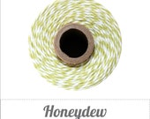 Honeydew - Light Chartreuse Green and White Baker's Twine by The Twinery - 240 yard spool