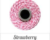 Strawberry Twine Spool - Pinkish Coral & White - 240 yards
