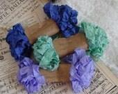 Shabby Wrinkled LONE IRIS ribbon bundle, 15 yards
