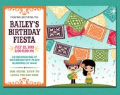 Print Yourself Kid's Mexican Fiesta Invitation, Custom Printable Party Invite for Child's Birthday Party, Boy or Girl, Unisex