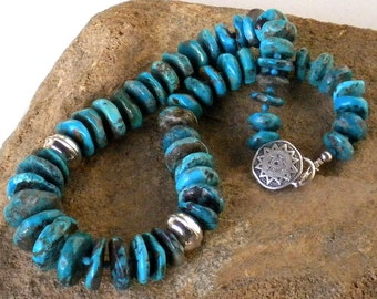 THE DREAM CIRCLE . southwestern .  american turquoise & sterling silver . necklace