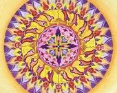 Shiva Mandala - Fine Art Signed Print - Mandalamagic1 Original Mandala Art - Rainbow Art - Colorful Art - Canvas Art - Moroccan Art