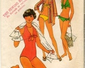 Vintage One-Piece Bathing Suit, Bikini and Hooded Cover-Up Jacket  Sewing Pattern - Simplicity 8028 - Size 14