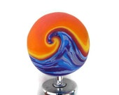 Polymer Clay Bottle Stopper Ocean Sunset