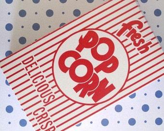 24 Vintage Retro Popcorn Box Closed Top: Party, Birthday, Event, Wedding, Movie, Carnival, Circus, Baseball, Sports