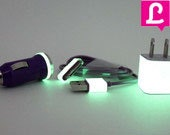 2in1 Purple Glow in the Dark iPhone Charger  (Available for iPhone 5 and iPhone 4/4s in 3ft and 10ft long cable)