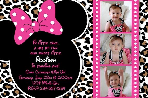 Minnie Mouse guepardo o leopardo Print Rosa por HeathersCreations11