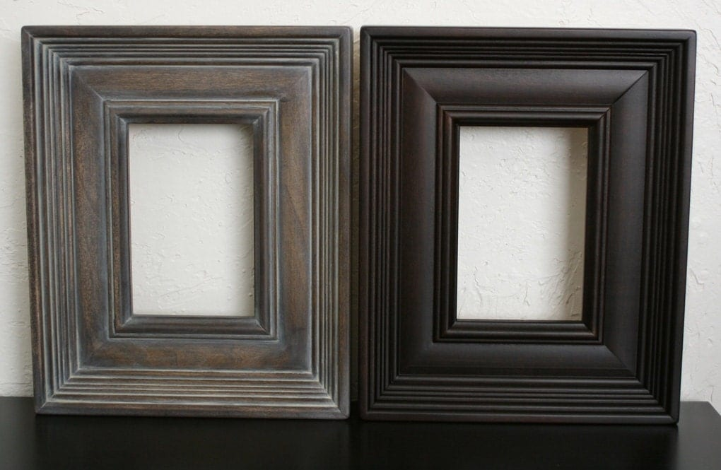 20x30 picture frame gray washed brown on empire. Black Bedroom Furniture Sets. Home Design Ideas