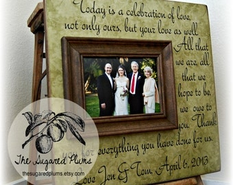 PARENTS THANK YOU Wedding Frame, Today Is A Celebration Of Love, Parents Gift, Thank you Gift, Parents of the bride 16x16