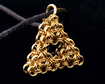 Legend of Zelda Chainmaille Triforce Pendant